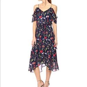 Parker Dresses - Parker Cold-Shoulder Floral Ruffle Dress